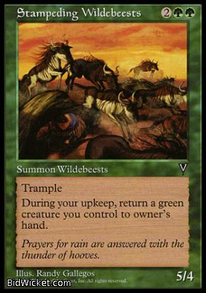Stampeding Wildebeests, Visions, Magic the Gathering