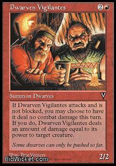 Dwarven Vigilantes, Visions, Magic the Gathering