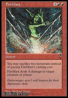 Fireblast, Visions, Magic the Gathering