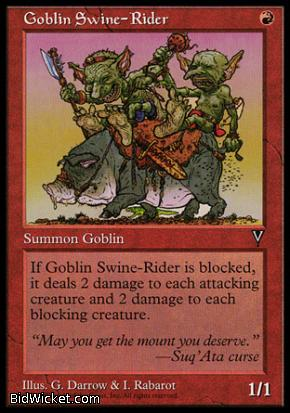 Goblin Swine-Rider, Visions, Magic the Gathering