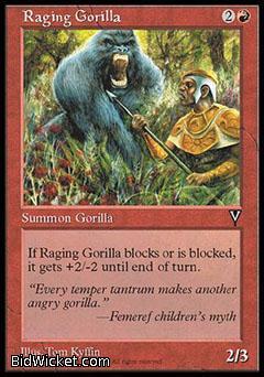 Raging Gorilla, Visions, Magic the Gathering