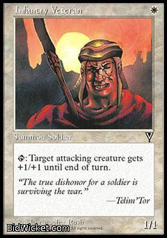 Infantry Veteran, Visions, Magic the Gathering