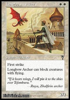 Longbow Archer, Visions, Magic the Gathering