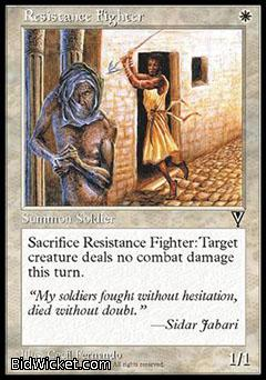 Resistance Fighter, Visions, Magic the Gathering