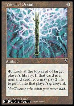 Wand of Denial, Visions, Magic the Gathering