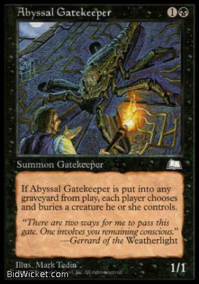 Abyssal Gatekeeper, Weatherlight, Magic the Gathering