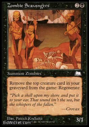 Zombie Scavengers, Weatherlight, Magic the Gathering