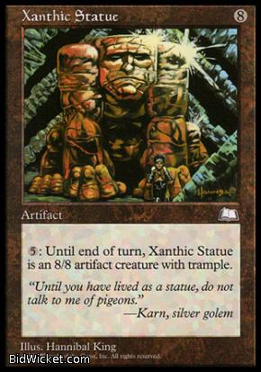 Xanthic Statue, Weatherlight, Magic the Gathering