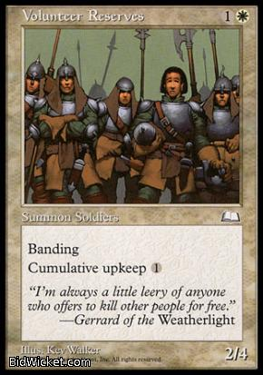 Volunteer Reserves, Weatherlight, Magic the Gathering