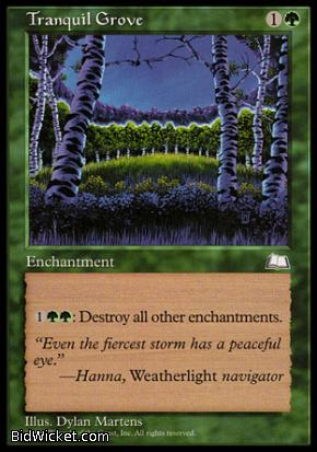 Tranquil Grove, Weatherlight, Magic the Gathering