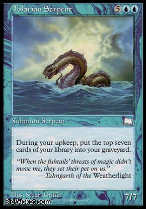 Tolarian Serpent, Weatherlight, Magic the Gathering