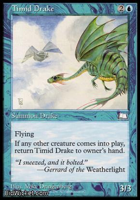 Timid Drake, Weatherlight, Magic the Gathering
