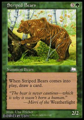Striped Bears, Weatherlight, Magic the Gathering