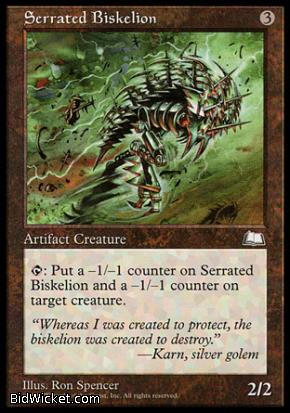Serrated Biskelion, Weatherlight, Magic the Gathering