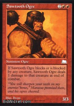 Sawtooth Ogre, Weatherlight, Magic the Gathering