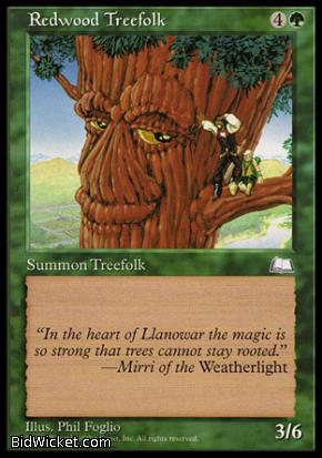 Redwood Treefolk, Weatherlight, Magic the Gathering