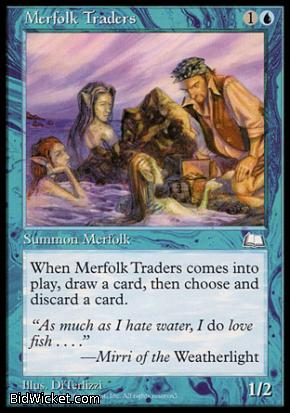 Merfolk Traders, Weatherlight, Magic the Gathering