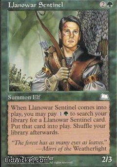 Llanowar Sentinel, Weatherlight, Magic the Gathering