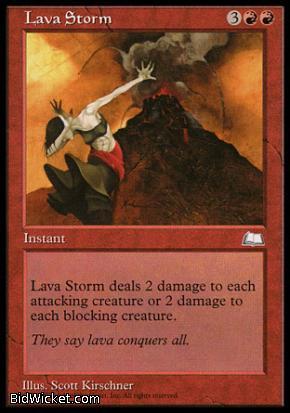 Lava Storm, Weatherlight, Magic the Gathering