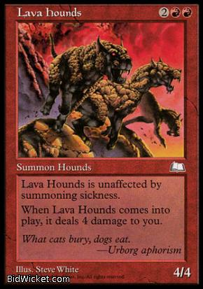 Lava Hounds, Weatherlight, Magic the Gathering