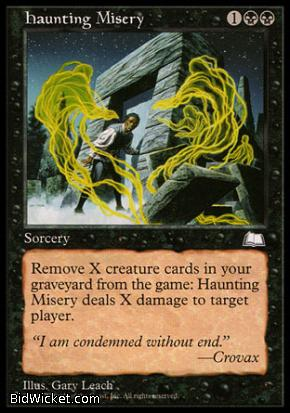 Haunting Misery, Weatherlight, Magic the Gathering