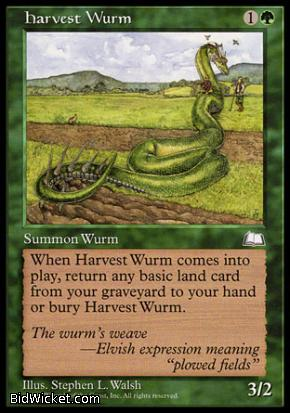 Harvest Wurm, Weatherlight, Magic the Gathering