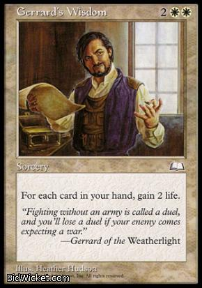 Gerrard's Wisdom, Weatherlight, Magic the Gathering