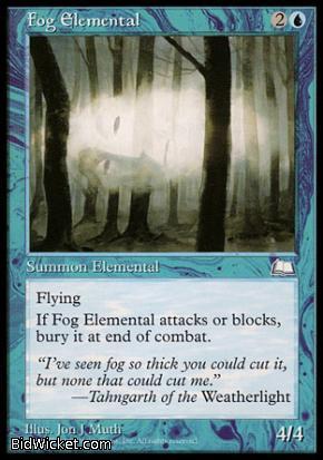 Fog Elemental, Weatherlight, Magic the Gathering