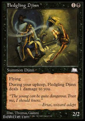 Fledgling Djinn, Weatherlight, Magic the Gathering