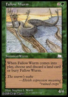 Fallow Wurm, Weatherlight, Magic the Gathering