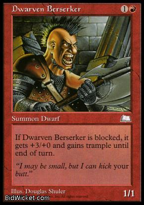 Dwarven Berserker, Weatherlight, Magic the Gathering