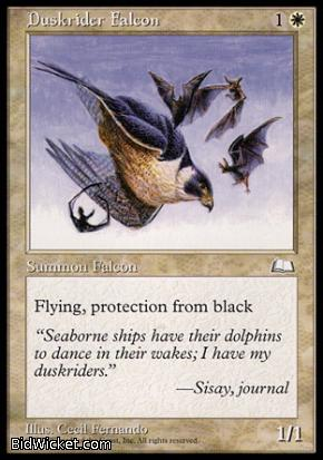 Duskrider Falcon, Weatherlight, Magic the Gathering