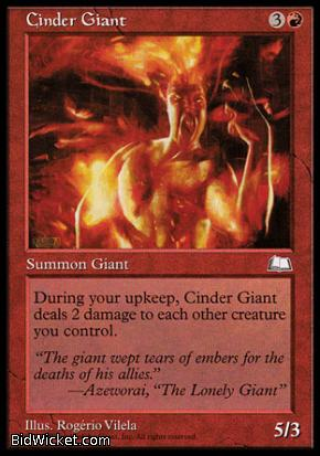 Cinder Giant, Weatherlight, Magic the Gathering