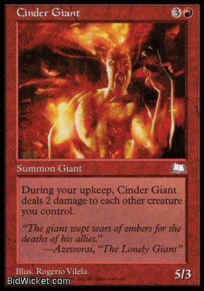 Cinder Giant, Weatherlight, Magic the Gathering