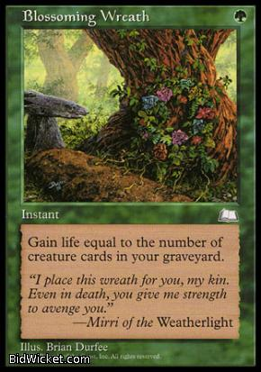 Blossoming Wreath, Weatherlight, Magic the Gathering