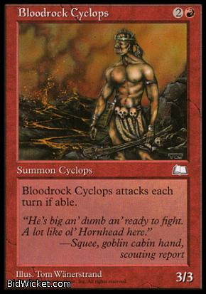 Bloodrock Cyclops, Weatherlight, Magic the Gathering
