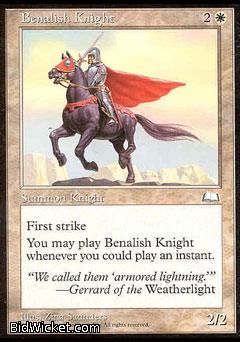Benalish Knight, Weatherlight, Magic the Gathering