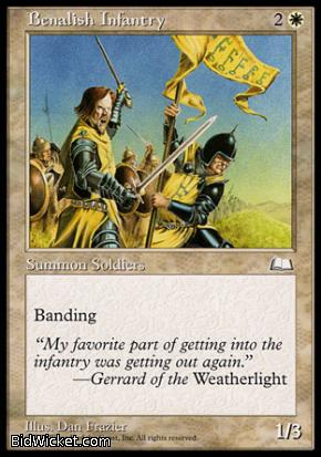 Benalish Infantry, Weatherlight, Magic the Gathering