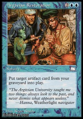 Argivian Restoration, Weatherlight, Magic the Gathering