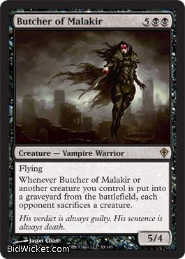 Butcher of Malakir, Worldwake, Magic the Gathering