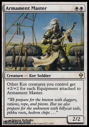 Armament Master, Zendikar, Magic the Gathering