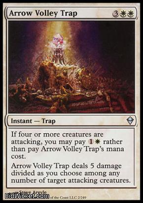 Arrow Volley Trap, Zendikar, Magic the Gathering