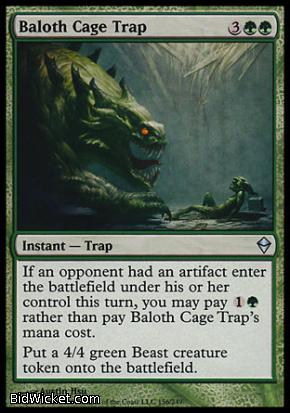 Baloth Cage Trap, Zendikar, Magic the Gathering