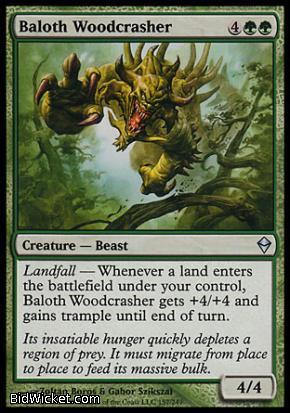 Baloth Woodcrasher, Zendikar, Magic the Gathering