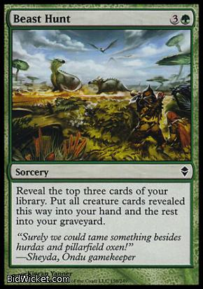Beast Hunt, Zendikar, Magic the Gathering