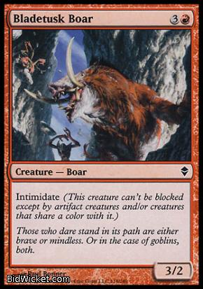 Bladetusk Boar, Zendikar, Magic the Gathering