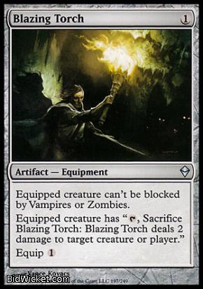 Blazing Torch, Zendikar, Magic the Gathering
