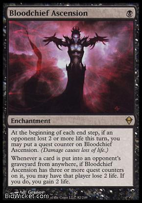 Bloodchief Ascension, Zendikar, Magic the Gathering