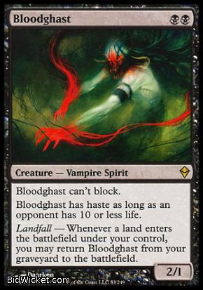 Bloodghast, Zendikar, Magic the Gathering