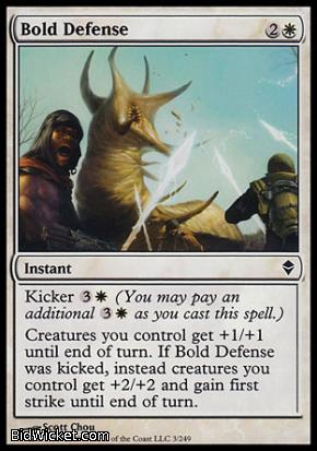 Bold Defense, Zendikar, Magic the Gathering